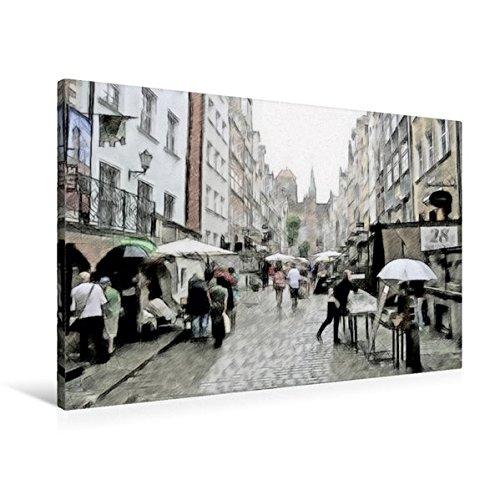 Preisvergleich Produktbild Premium Textil-Leinwand 90 cm x 60 cm quer, Trödelmarkt | Wandbild, Bild auf Keilrahmen, Fertigbild auf echter Leinwand, Leinwanddruck (CALVENDO Kunst)