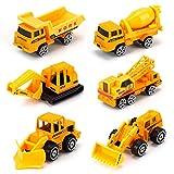 DREAMON Spielzeugautos Bagger Lastwagen LKW Baufahrzeuge Fahrzeuge Spielzeug Set Mini Cars für Kinder ab 3 Jahren,6 Pcs