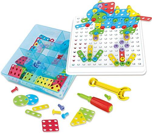 3D-Bausatz zum kreativen Spielen für Mädchen und Jungen TG658 – Mehrfach verwendbarer Bausatz als Geschenk für Mädchen und Jungen im Alter von 3 bis 7 Jahren – Interaktives Bauspielzeug