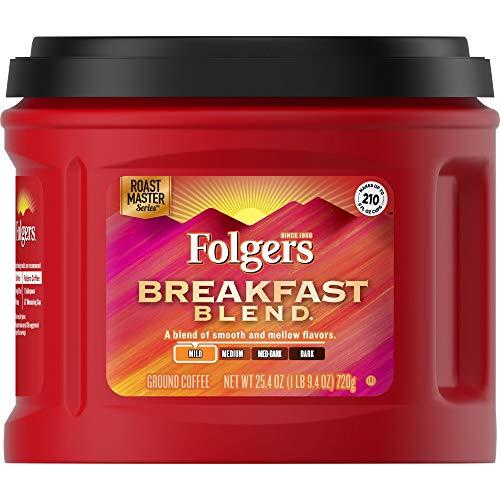 Folgers Breakfast Blend Ground Coffee, 25.4 oz