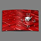 Digital Designer Art abstrakt rot Designer Wanduhr abstrakt modernes Wanduhren Design leise kein ticken DIXTIME 3D-0420