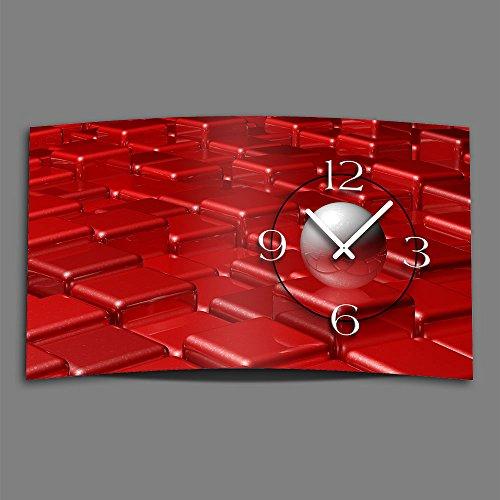 Horloge Design Murale Rouge