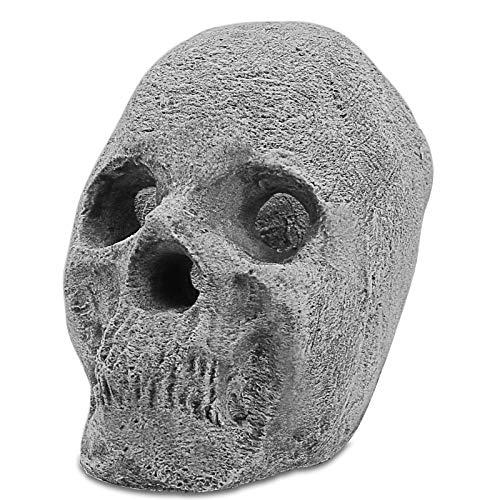 GFTIME Decoración de cerámica a Prueba de Fuego de cráneo Humano Imitado...