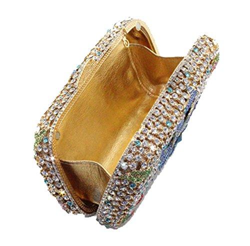Frauen Handtaschen Fashion Diamond Luxus Abendtasche Blue