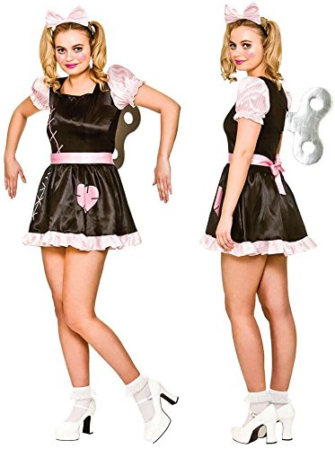 Dress China Kostüm Doll Fancy - Wind Up Doll Women's Costume Scary Halloween Fancy Dress