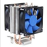 JHKJ Dual Heatpipe CPU Kühler Desktop CPU Dual 8Cm Lüfter Ultra-Leise Multi-Plattform