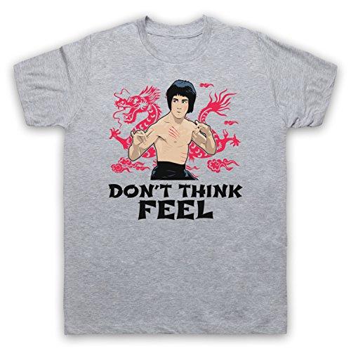 Bruce Lee Don't Think Feel Herren T-Shirt Grau