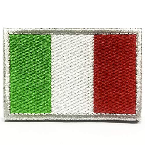 Toppe ricamata bandiera italiana patch militari toppa da cucire ferro per zaini giubbotti vestiti jeans toppe termoadesiva distintivo