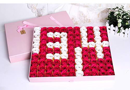 Duftende Rosenblüten Seifenblumen für Hochzeits-Geburtstags-Party-Geschenk, B 43 * 37 * 4.5CM