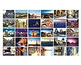 30 PCS exquisite Weltlandschafts-Foto-Postkarten Kreative Kunst-Gruß-Karten, A6