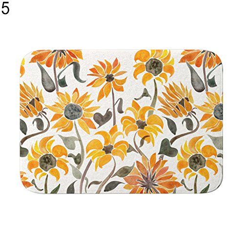 Terzsl Reparatur-Werkzeug Ananas Hund Sonnenblume Badezimmer Küche Tür Anti-Rutsch-Teppich Teppich Pad – 6#, 5#, Einheitsgröße