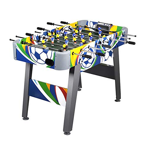 WIN.MAX Football Table 4ft Colorful Soccer Foosball Game MDF Construction Competition Sized Arcade Sports Fun Heavy Duty Indoor Pub Room Game