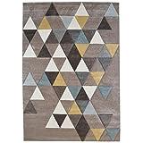 Tapis de salon scandinave - Collection ELLA - Couleur beige - Taille 80x150cm