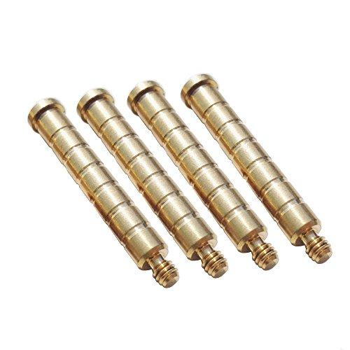 ZSHJG 12 Stück Bogenschießen-Kupferpfeil-Gewichte 100Grain-Einsatz-Schrauben-Punkte für ID 6.2mm Pfeil-Welle -
