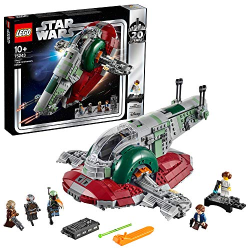 LEGO 75243 Star Wars Slave l-20th Anniversary Edition, Boba Fett's Starship, Episode 5 The Empire Strikes Back, Colourful Best Price and Cheapest