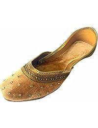1242af825956 Step N Style Women Flat Velvet Khussa Shoes Punjabi Jutti Traditional Mojari  Loafer Pumps