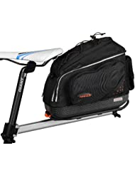 Ibera Fahrrad-Gepäckträgertasche + Gepäckträger Set, Bicycle Seatpost-Mounted Commuter Rack + Quick-release Commuter Bag