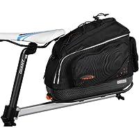 Ibera Fahrrad-Gepäckträgertasche + Gepäckträger Set, PakRak Clip-On Commuter Bag & Carrier Plus+ Rack Combo Set