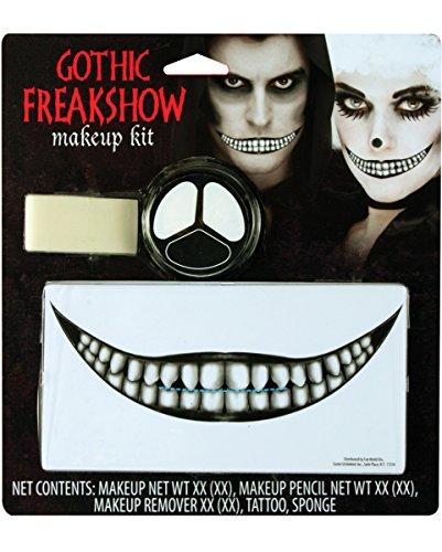 Gothic Freakshow Make-up Set als Schminke und Zubehör für Halloween & (Make Halloween Gothic Up)