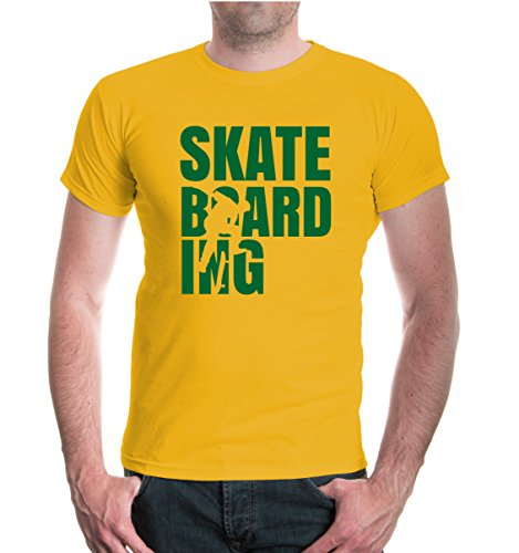buXsbaum® T-Shirt Skateboarding Type Sunflower-Bottlegreen
