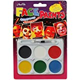 Asian Hobby Crafts Non Toxic Face Paint, Safe, Water Washable And Easy To Crate For Theme Parties (6 Colors, 4x3-inch, Set Of 2)