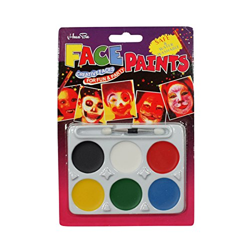 Asian Hobby Crafts not Toxic Face Paint (6 Color Set) for Party Make Up Fancy Dress Cosplay : Pack of 1pc (White)