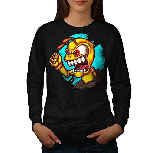 fourmi-en-colere-monstre-bizarre-femme-nouveau-noir-l-sweat-shirt-wellcoda