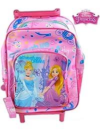 Sac à dos à roulettes Princesses Disney 30 cm