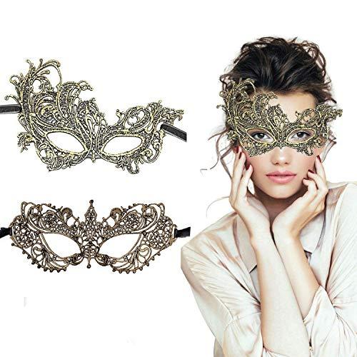 Kostüm Sexy Präsentieren - LADES Masquerade Maske - Sexy Spitze Venezianische Augenmaske Lace Masken Damen Maske für Maskenball Halloween Karneval Maskentanzabend Party