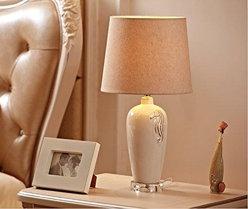 Creative Light- Europäische Tischlampe Büro Schreibtisch Moderne minimalistische Keramik Wohnzimmer Schlafzimmer Nachttisch Lampe Tischlampe