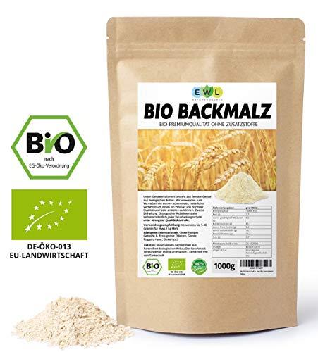 Backmalz 100% Bio Malz | 100% Gerste Gerstenmalz Backmalz für Brot und Brötchen | enzymaktiver und ballaststoffreicher Mehlzusatz | Gerstenbackmalz Brötchenbackmittel Vegan