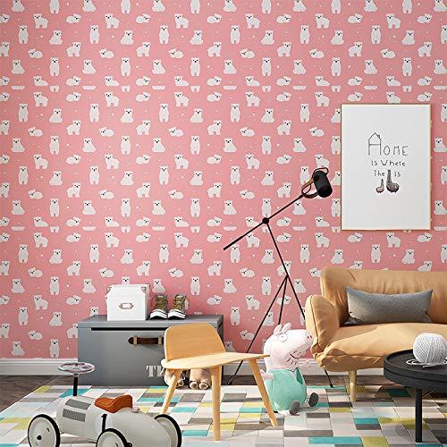 Carta da parati autoadesiva impermeabile camera da letto sfondo decorazione della stanza carta da parati adesivo da parete 0,6 m * 10 m fondazione carino orso 60 cm di larghezz