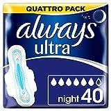 Always Ultra Night Hygiene-Binden mit Flügeln 4 (4x 10)