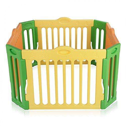 Baby Vivo Piccolo Box per Bambini Sicurezza Barriera Pieghevole Recinto Plastica Pacchetto principale Estensibile Quadrangolare - Modello 2017