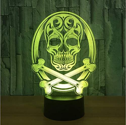 Schädel 3D Led Lampe Atmosphäre Nachtlichter Led Lampe Touch Sensor Halloween Thema Party Wohnzimmer Schlafzimmer Tisch Schreibtisch Dekor Drop Ship (Halloween-thema-party Für Erwachsene)