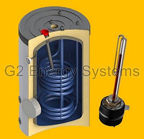 150 160 L Liter Warmwasserspeicher Boiler 1 Wärmetauscher mit 2,5 kW Elektroheizstab, Anschlüsse oben