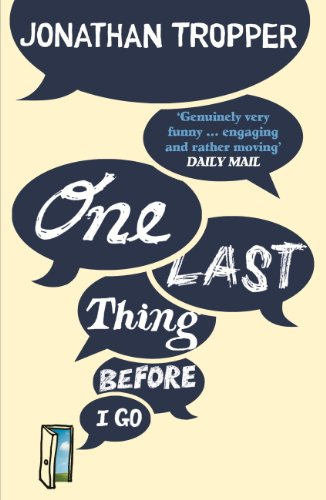 Buchseite und Rezensionen zu 'One Last Thing Before I Go (English Edition)' von Jonathan Tropper