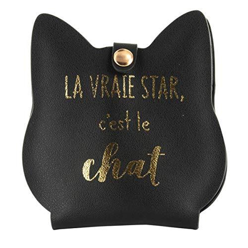 Scopri offerta per Les Trésors De Lily [Q5423] - Kit manicure 'Chats' in oro nero (4 utensili) - 11x10.7x2 cm.