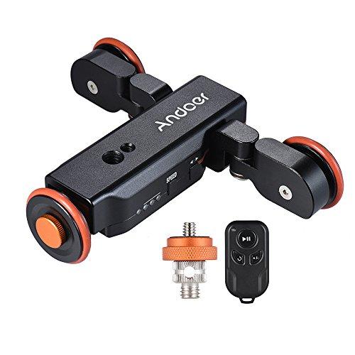 Andoer L4 Video Kamera Slider Dolly 3 Automatische mit drahtloser Fernbedienung / 1800mAh Akku Car Slider Rolling Skater für Canon Nikon Sony DSLR iPhone 7 7 Plus 6 Plus für Samsung Huawei (Cam Dolly)