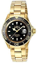 Invicta Pro Diver Unisex Analogue Classic Quartz Watch With Stainless Steel Gold Plated Bracelet – 9311