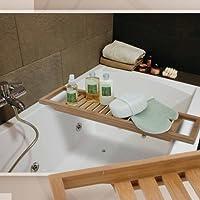 Relaxdays Mensola per Vasca da Bagno, Piana,