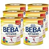 Nestlé BEBA OPTIPRO Kindermilch ab dem 1. Geburtstag, für eine altersgerechte Ernährung, Milchgetränk mit den Vitaminen A, C & D, 6er Pack (6 x 800 g)