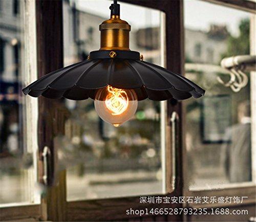 larsure Vintage moderne plafonnier lustre Suspension Lampe Bar lustre lustre Antique dans le milieu de la gastronomie Hôtel Loft Fer à Repasser Petite chandeliers, 250 mm (220–240 V)