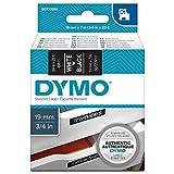 Dymo S0720910 D1-Etiketten (Selbstklebend, für den Drucker LabelManager, 19 mm x 7 m Rolle) schwarz/weiß