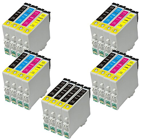 4 Sets + 4 black = 20 Compatible Epson T0555