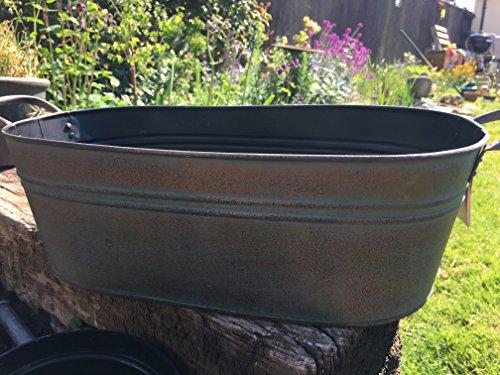 Pot de fleurs ovale Effet cuivre – Style Antique