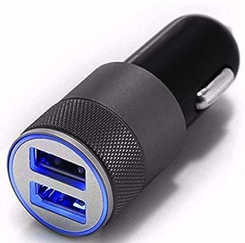 KEERADS Mini sans fil USB 2 ports 12V universelle dans la prise allume-cigare Smart Quick Charger adaptateur pour les téléphones portables et iPads( Gris)
