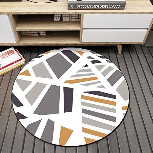 Comfot Flanell Einfache Runde Teppich Rutschfeste Teppiche Baby Kids Playmat Decke für Wohnzimmer Wohnkultur (Multi-Size),80CM -