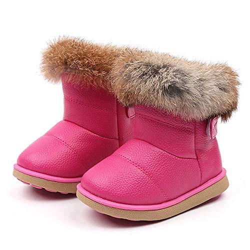 Quaan Kleinkind (21-30) Stiefel, Jungen Martin Sneaker Licht Leder Warm Turnschuhe Beiläufig Anti-Rutsch wasserdicht Schnee Regen Weich Atmungsaktiv Festival Retro Klassisch Schuhe
