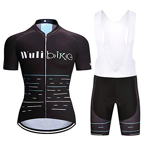 logas 2017 Neue Männer Fahrrad Jersey Set Short Sleeve-Fahrrad-Hemd 3D Gel Gepolsterte Bib Shorts MTB Sport